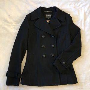 NWT EXPRESS Wool Pea-Coat Double-Breasted